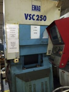 Emag Vsc250 Cnc Vertical Turning Center Lathe With Fanuc 16t Control
