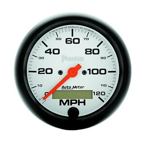 Autometer 5887 Phantom In dash Electric Speedometer With White Dial Face