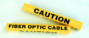 7 Long Wrap Around Caution Fiber Optic Cable Marker Pack Of 25 10112784