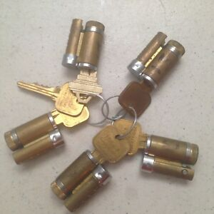 Lot Of 5 Used Schlage Ic Cylinders W Keys