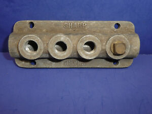 Rare Vintage Sharp Speed Equipment Four Carb Intake Manifold Fuel Log Sct2