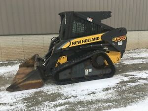 New Holland C175 Skidsteer Compact Track Loader Heat ac 650hrs 72 Bucket