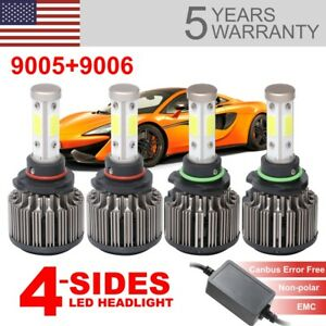 4side Canbus Error Free Led Headlight 9005 9006 High Low Beam 240w 64000lm 2pair
