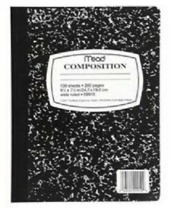 Mead Composition Book 9 75 In X 7 5 In