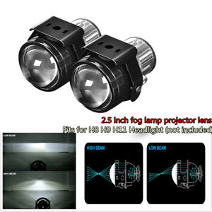 2 5 Inch Bi Xenon Fog Lights Projector Lens Driving Fog Lamps Car Retrofit Kit