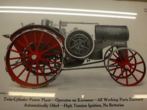Ihc 10 20 Titan Tractor Original Color Framed Print Old Gas Engine