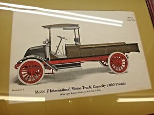 Ihc Model F Truck Original Color Framed Print Old Gas Engine
