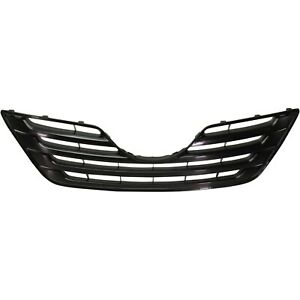 Grille For 2007 2009 Toyota Camry Black Plastic