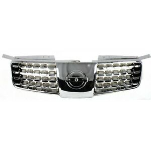 Grille For 2004 2006 Nissan Maxima Chrome Plastic