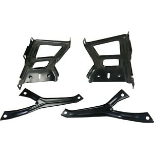 New Bumper Face Bar Bracket Retainer Mounting Brace Rear Driver