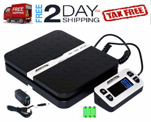 Black Portable Digital Shipping Postal Scale With 110 Lb Capacity 10 X 8 X 3