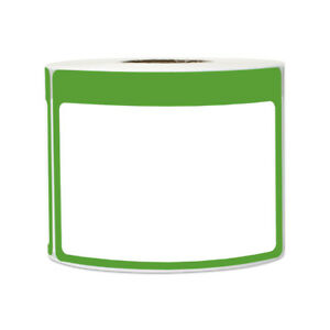 Green Name Tag Blank Stickers Write on Surface Student Labels 3 5 x2 25 5pk