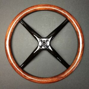 17 Mahogany Model T Steering Wheel Rim W Steel Spider Beautiful Dark Finish