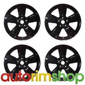 New 20 Replacement Wheels Rims For Dodge Ram 1500 2013 2018 Set Black 2451