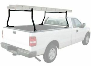 Heavy Duty 650lbs Dual Bar Universal Adjustable Truck Ladder Pick Up Rack