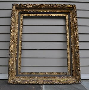 Gorgeous Antique Picture Or Mirror Frame With Stunning Gilded Relief Details