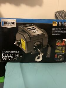 Reese Towpower 1 Ton Portable Electric Winch Model 70336 New