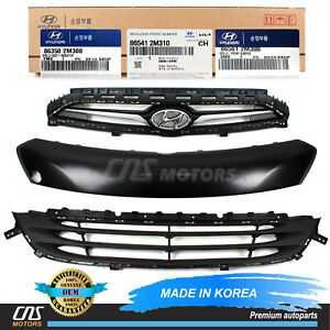 Genuine Grille Front Set Of 3 Parts For 13 16 Hyundai Genesis Coupe 863502m300