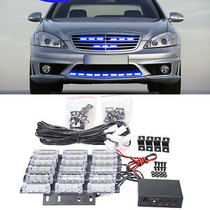 Ultra Blue 54 led Emergency Universal Truck Flashing Strobe Warning Grill Lights