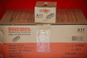 A11 3 8 Staples 20 Boxes 5000 Ea 100 000 Iso Certified 1 Full Case 3 8