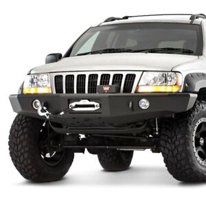 For Jeep Grand Cherokee 99 04 Trailready Full Width Black Front Winch Hd Bumper