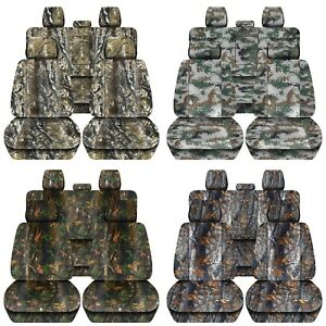 Truck Seat Covers 2019 Dodge Ram Front Rear Camouflage Design Custom Fit Abf