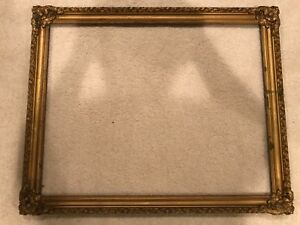 Antique 28x22 Gold Arts Crafts Large Picture Frame E
