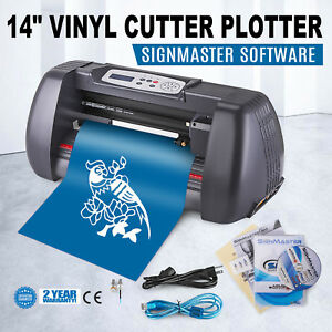 14 Vinyl Cutting Plotter Sign Cutter Craft Cut W signmaster Software 3 Blades