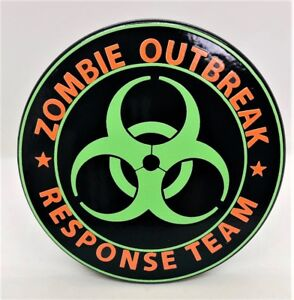 Zombie Outbreak Billet Aluminum Trailer Hitch Plug Cover Uv 5