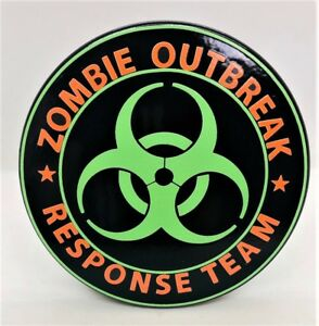 Zombie Outbreak Billet Aluminum Trailer Hitch Plug Cover Uv 4