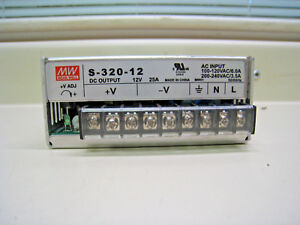 Mean Well S 320 12 Linear Switching Power Supply 300w 12v 25a Free Shipping
