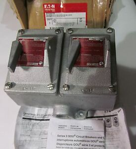 New Cooper Crouse Hinds Efd22105 Double Circuit Breaker Enclosure Protector