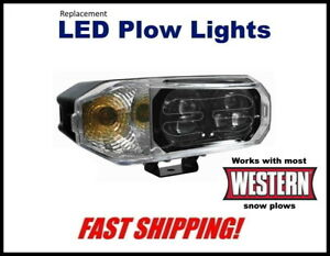 Western Super Bright Led Snow Plow Headlight Replacemant Plow Light Kit