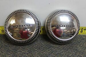 Oem Mopar Set Of 2 Dog Dish Center Hub Cap 10 1960 Dart Polara Seneca Svm38