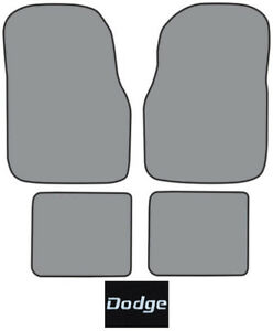 1976 1980 Dodge Aspen Cutpile Carpet Logo Floor Mat 4pc
