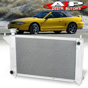 For 94 95 Mustang V6 V8 Gt Cobra M T Tri Core Row Racing Engine Cooling Radiator