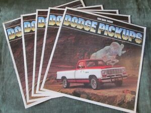 1981 81 Mopar Dodge Truck Pickups Dealer Sales Brochure Macho Power Wagon Ram