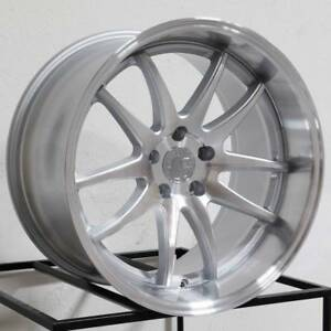 18x8 5 Aodhan Ds02 Ds2 5x112 35 Silver Machined Face Wheels Rims Set 4