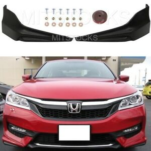 Fit For 2016 2017 Accord Sedan 4d Hfp Style Front Bumper Lip Splitter Spoiler Pu
