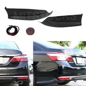 Fit For 2016 2017 Accord Sedan 4d Hfp Style Rear Bumper Lip Splitter Spoiler Pp