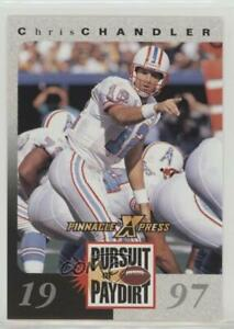 1997 Pinnacle X-Press Pursuit of Paydirt CHCH Chris Chandler Houston Oilers Card