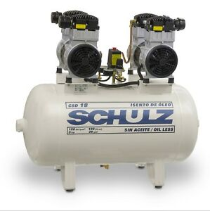 Schulz Oilless Csd 18 30 Medical Air Compressor 3hp 120psi