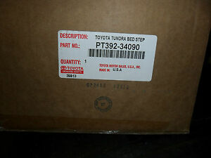 2007 2013 Toyota Tundra Retractable Bed Step Genuine Oem New Pt392 34090