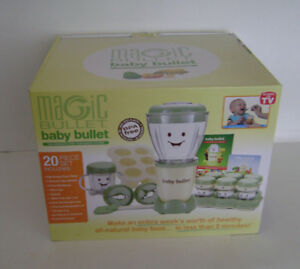 Magic Bullet Baby Care Food Making Blending System 20 Piece Set Blender Milling