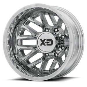 17 Inch Chrome Wheels Rims Dodge Ram 3500 Dually New Xd Series Grenade 8x6 5 Lug