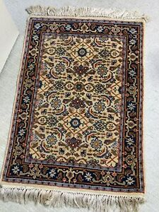 Vintage Handmade Persian Rug Oriental Carpet Turkish Towel Floral Design Mat Guc