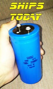 Electrolytic Capacitor 160v 22000uf Nippon Chemi con Big Can Rail Gun Spot Weld