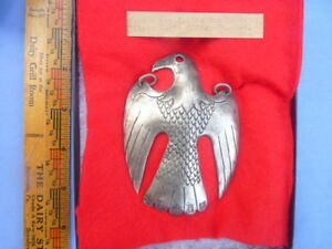 18th Century Metal Copy Trade Gorget Silver Eagle Pendant French Or English