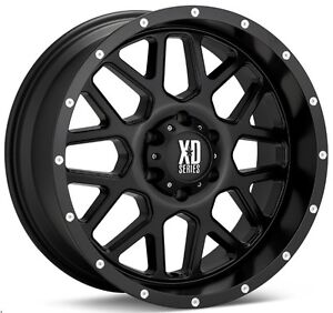20 Inch Black Wheels Rims Ford F 250 F 350 F250 F350 8x6 5 Lug Xd820 New Set 4