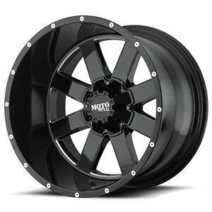 20 Inch Black Wheels Rims Lifted Ford Truck F250 F350 Moto Metal Mo962 20x12 New
